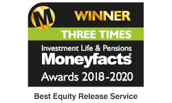 MoneyFacts Three Times Best Equity Release Service 2020